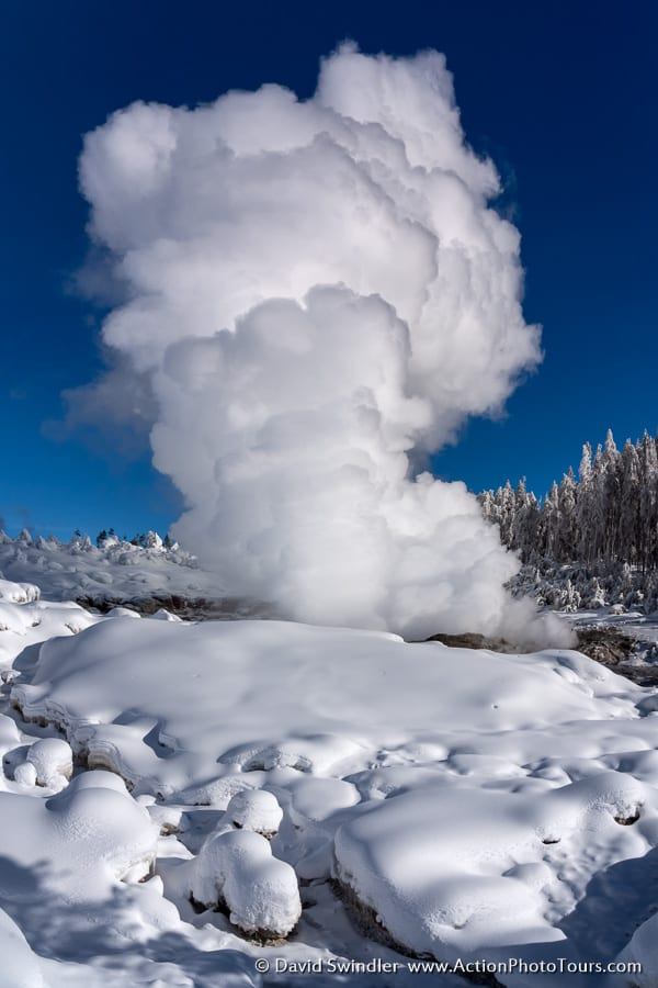Yellowstone Winter Photo Workshop Steamboat Geyser