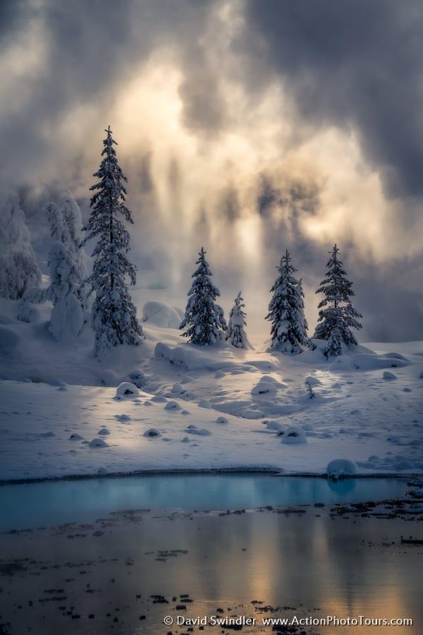 Yellowstone Winter Photo Workshop Steamy Mist Geyser
