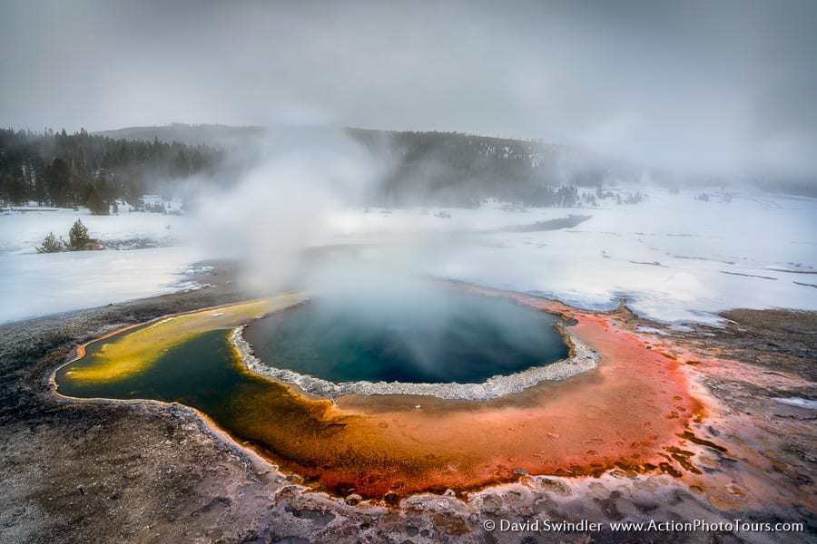 Yellowstone Winter Photo Workshop Colorful Hot Spring