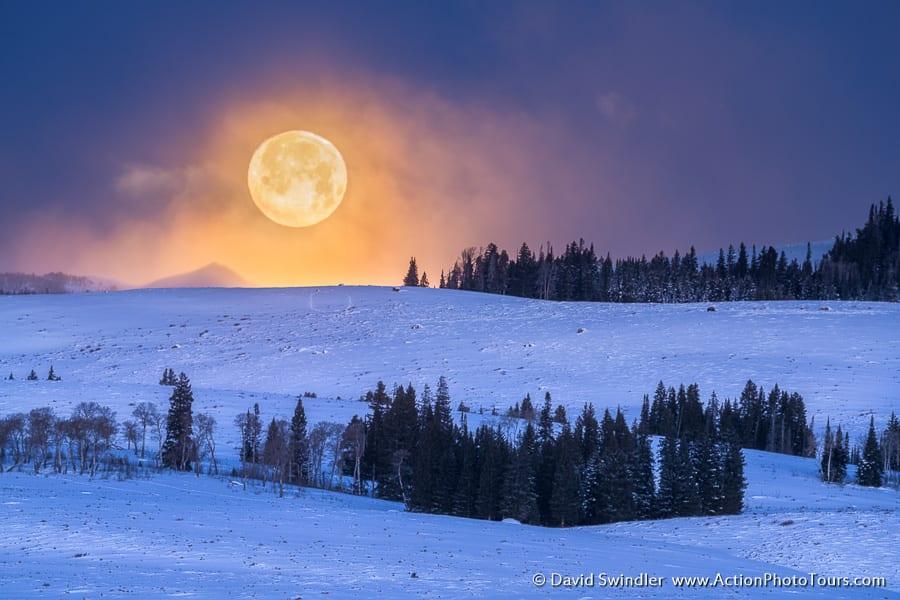 Yellowstone Winter Photo Workshop Full Moon