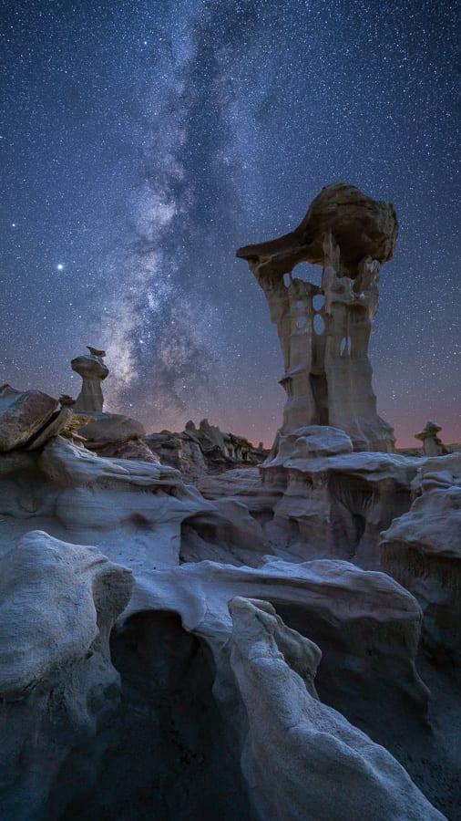 Bisti Badlands Photo Workshop Milky Way