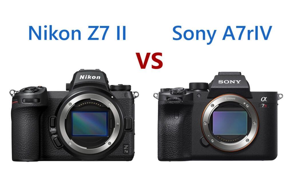 Nikon Z7 II vs Sony A7rIV camera comparison A7 Z7 A7r4